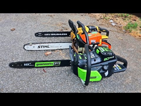 "World's First 18"" Electric Chainsaw"