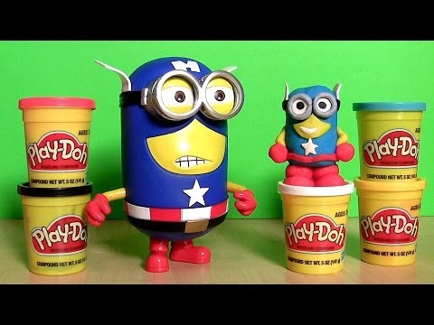 Marvel Minion Dave Captain America Action Figure Play Doh the Avengers Superhero from Despicable Me