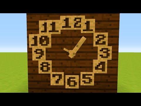 Eine echte funktionierende Minecraft Uhr ohne Mods! (видео)
