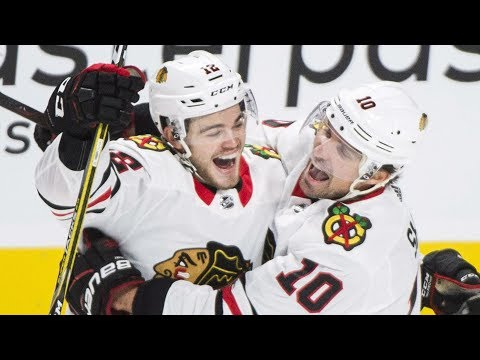 Video: DeBrincat all smiles after beating Price for first NHL goal