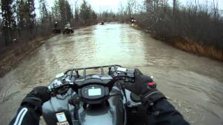 7. 2016 Yamaha Grizzly + Can-Am's Mudding. ACTION STARTS AT 4 MINUTES IN