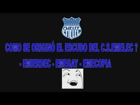 Cómo se originó el escudo del Club Sport Emelec alias Emierdec Emegay Emecopi...