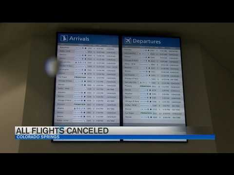 Flights canceled at DIA, Colorado Springs Airport