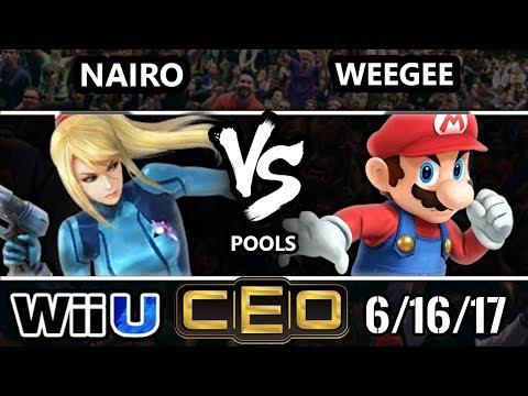 CEO 2017 Smash 4 - NRG | Nairo (ZSS) vs Weegee (Mario) Wii U Tournament