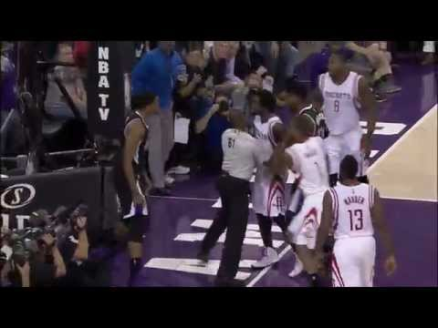 Rudy Gay, Patrick Beverley get into a shoving match