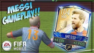 Video 99 OVR ULTIMATE TEAM MESSI GAMEPLAY!! FIFA MOBILE HE'S A BEAST!! MP3, 3GP, MP4, WEBM, AVI, FLV Juni 2017