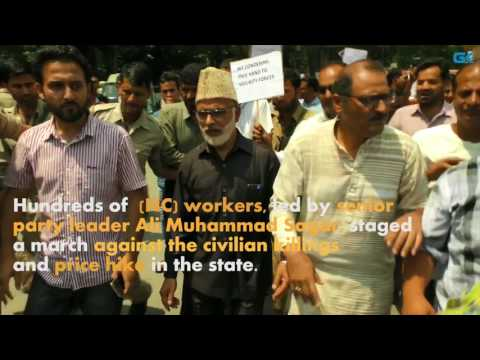 NC marches against killings, price hike in Kashmir capital
