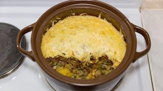 Индейка в горшочке с картошкой и грибами в духовке