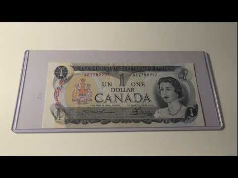 1973 $1 Note from the Bank of Canada