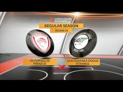 EuroLeague Highlights RS Round 25: Olympiacos Piraeus 81-73 Darussafaka Dogus Istanbul