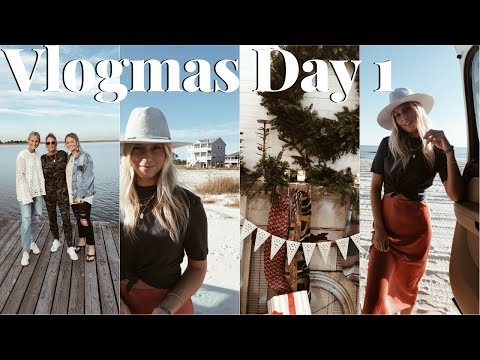 VLOGMAS DAY 1: thanksgiving with my family, black Friday shopping & hanging on the beach