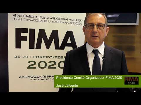 José Lafuente, President of the FIMA 2020 Organizi