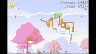 Angry Birds Seasons 3 star walkthrough for Hogs and Kisses level 1-13