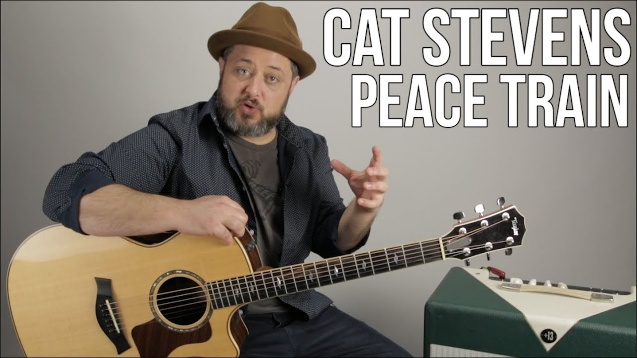 """How to Play """"Peace Train"""" by Cat Stevens on Guitar – Acoustic Guitar Lesson"""