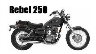 8. Honda Rebel 250 full review