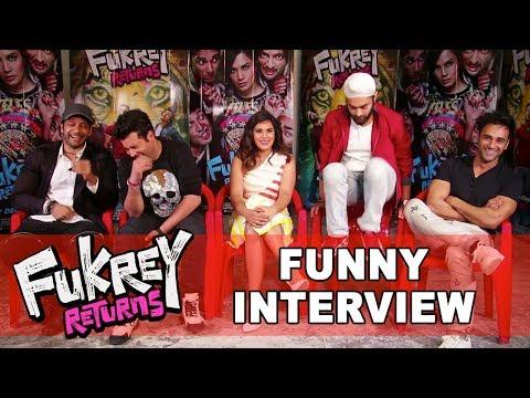 Fukrey Returns Full FUNNY Interview | Pulkit Samrat,Varun Sharma,Richa Chadha,Ali Fazal,Manjot Singh