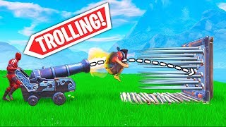 *NEW* CANNON TROLLING TRICK..!!   Fortnite Funny and Best Moments Ep.408 (Fortnite Battle Royale)