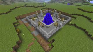 Minecraft Time Lapse - Town Part 1 (Fountain)