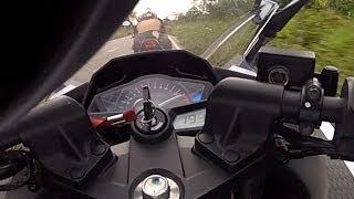 10. Kawasaki Ninja 300 - Top Speed 194 / 195 km/h (na reta e no vácuo da CB 500) Brazil