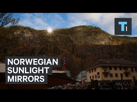 Norwegian town uses mirrors to make artificial sunlight (видео)