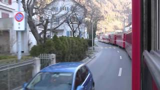 Chur Switzerland  City pictures : Swiss Trains: Chur street running, 31Dec12