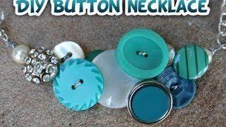 Button Necklace DIY- Whitney Sews - YouTube