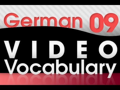 Learn German – Video Vocabulary #9