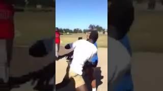Black vs samoan fight