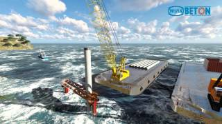 Video WIKA  Proses pemancangan tiang beton tengah laut MP3, 3GP, MP4, WEBM, AVI, FLV November 2018