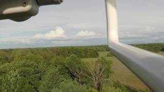 DJI Phantom 4 flown in atti mode loses altitude and crashes into tree tops at 55mph.