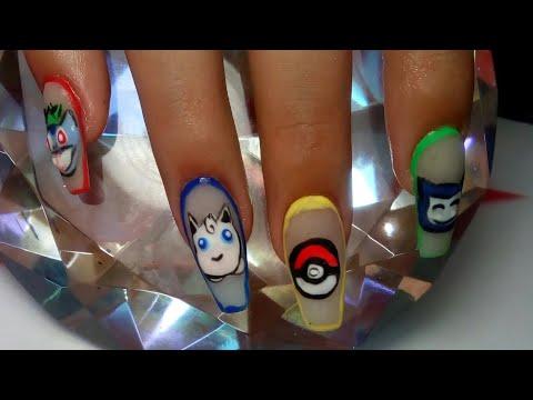 Diseños de uñas - Uñas con diseño de pokemon / colaboración