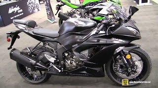 5. 2015 Kawasaki Ninja ZX-6R 30th Anniversary Edition Walkaround - 2014 Toronto Snowmobile & ATV Show