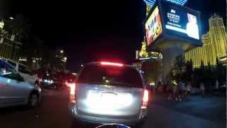 Las Vegas Strip Harley Ride Go Pro Hero2 time lapse