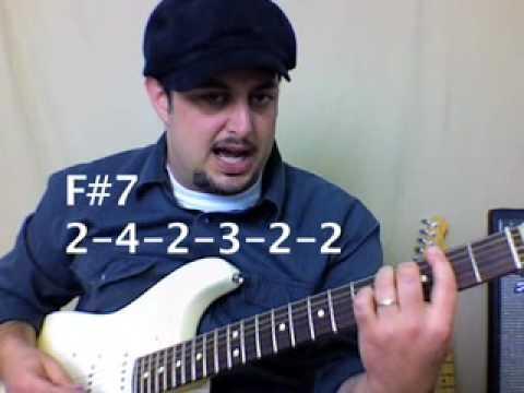 intermediate to advanced guitar lesson -Blues  Soul R&B Funk Jazz Progression