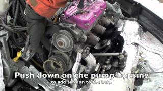 8. Replacing a polaris snowmobile water pump belt