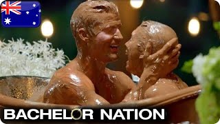 Richie's Heart Melts In Chocolate Bath With Alex | The Bachelor Australia