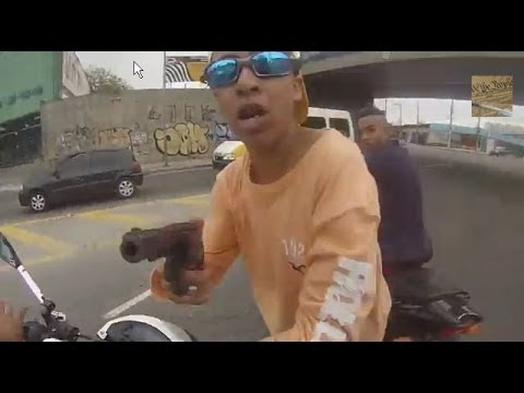 Thug Shot Seconds After Attempted Bike Heist – Captured on Helmet Cam – Full Video