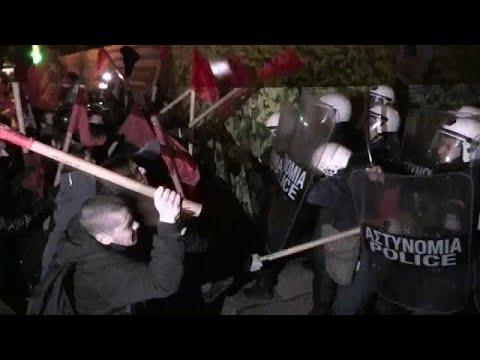 Griechenland: Linksradikale protestieren in Athen g ...