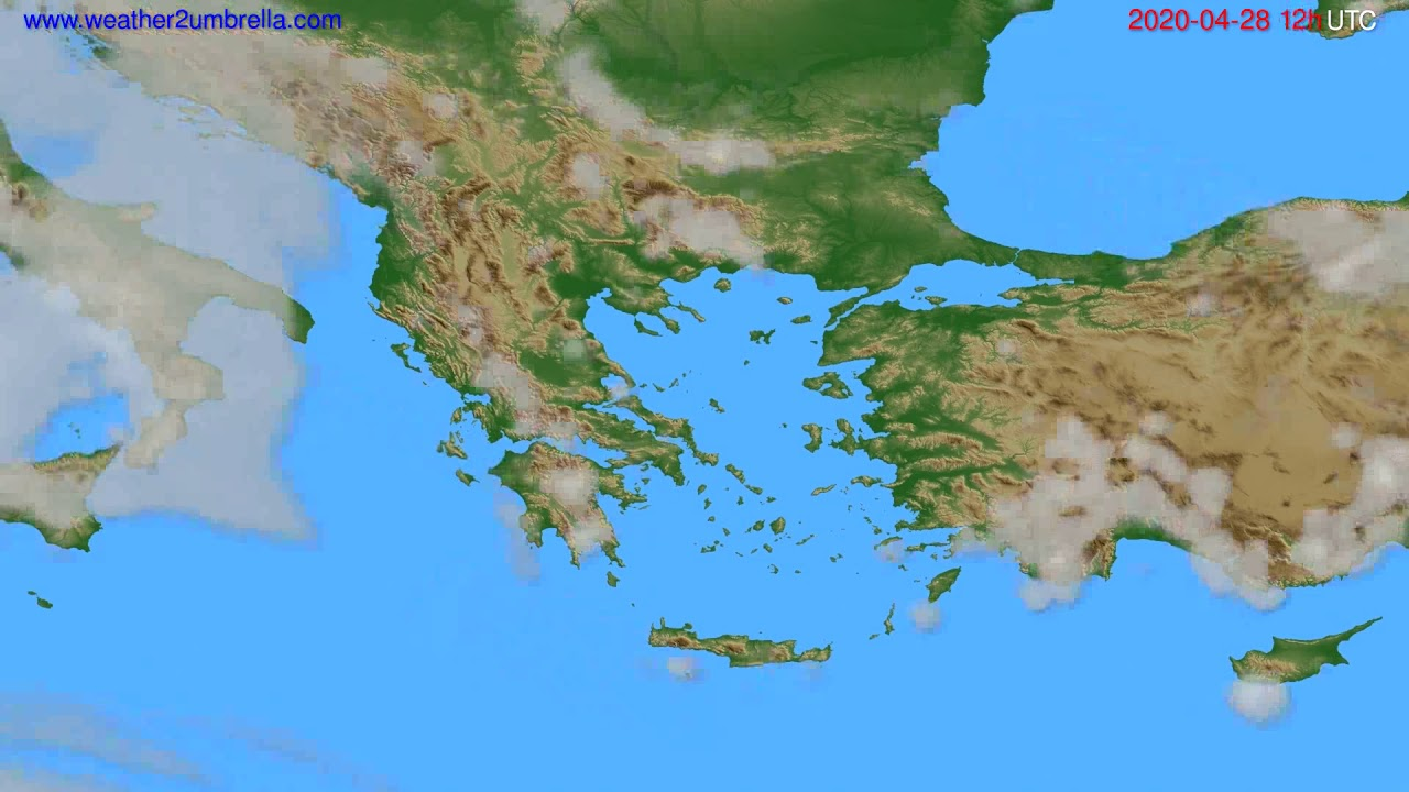 Cloud forecast Greece // modelrun: 00h UTC 2020-04-28