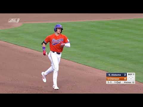 Clemson Baseball    South Alabama Game Highlights - 2/15/19