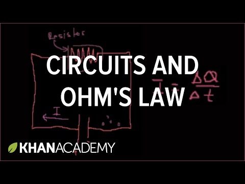 current - Learn more: http://www.khanacademy.org/video?v=3o8_EARoMtg Introduction to electricity, circuits, current and resistance.