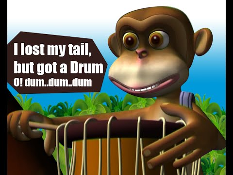 DRUMMER MONKEY | cartoon story from Manchadi (Manjadi)