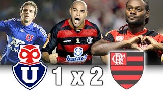 La U 1 x 2 Flamengo Vagner Love e Adriano marcaram pelo Flamengo.
