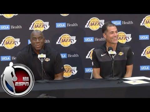 Video: [FULL] Magic Johnson and Rob Pelinka press conference: On LeBron, Lonzo and more | NBA on ESPN