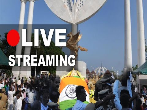 Last rites of TN CM late Jayalalithaa | LIVE from Marina