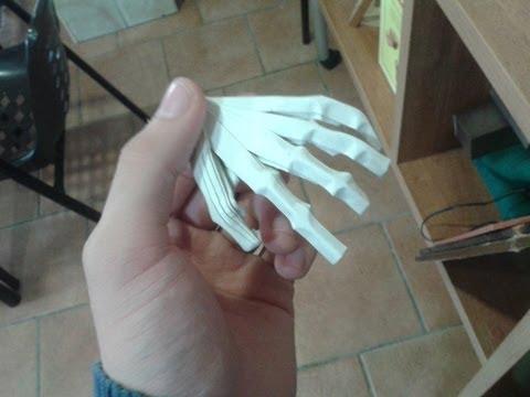 Рука скелета оригами видео своими руками