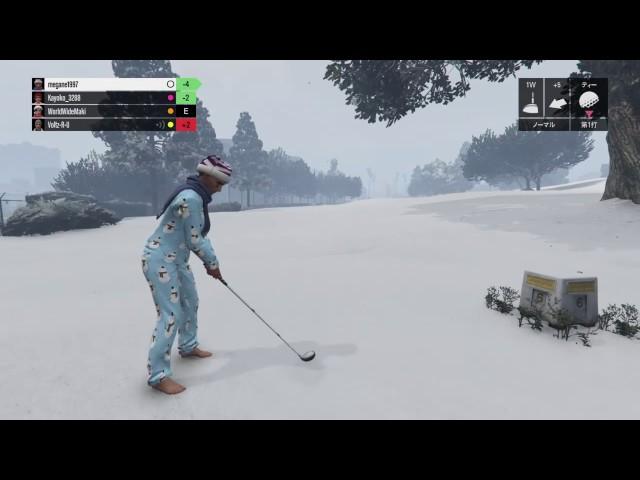 【GTA5】SREX 雪上ゴルフでホールインワン!