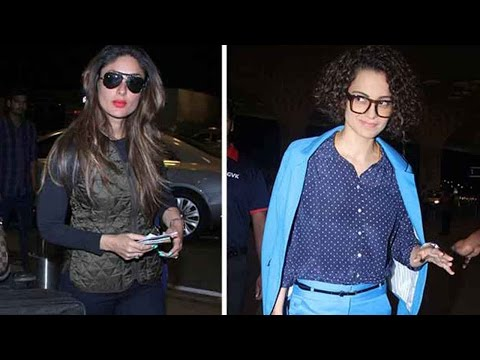 Airport Diaries: Kareena Kapoor Khan And Kangana R