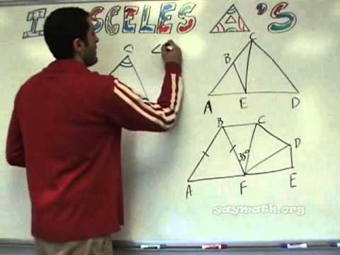 Geometry - gleichschenkligen Dreiecken Einführung
