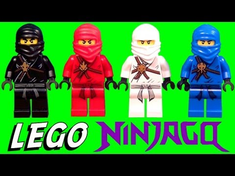 Blue Ninja Go - SUBSCRIBE to BrickQueen: http://bit.ly/1j3VMDo My collection of the original ninjas from LEGO Ninjago including Cole the black ninja, Kai the red ninja, Zane...